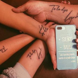 Este es el tatuaje que se realizó la familia del cantante Lagarda. | Tomada de Instagram