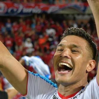 Teófilo Gutiérrez celebrando la octava estrella de Junior. | Hansel Vásquez