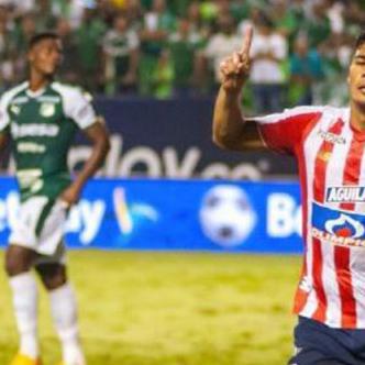 Teo Gutiérrez marcó el gol del triunfo para Junior.