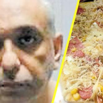 Usando una suculenta porción de pizza, similar a la de esta foto, Elí Saúl Geovo Chamunt durmió a su custodio y escapó.