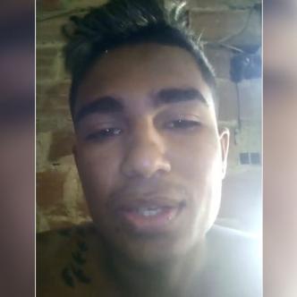Captura del video de Daniel Silva y al lado derecho su foto que se difundió en redes sociales.