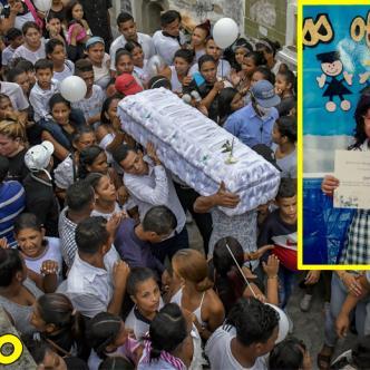 Sepelio de la niña María José Ortega Ballestas, en el cementerio Calancala. Un multitud le dio el último adiós a la pequeña.