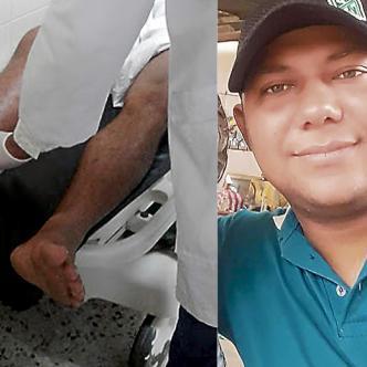 La víctima, Jair Carmona Hernández, llegó al centro asistencial sin signos vitales.