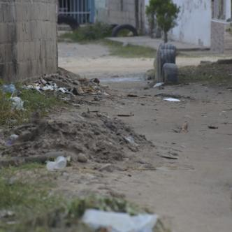 En este lugar del barrio Villa del Rey fue asesinado Jesús Antonio Correa Potter, reciclador de 21 años.