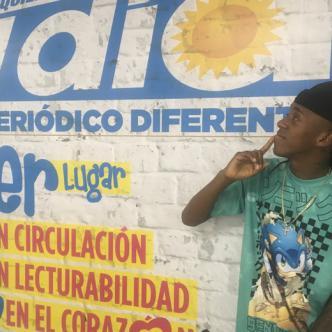 El cartagenero Young F disfruta de las mieles del triunfo.   Orlando Amador