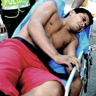 Jader fue trasladado hasta el hospital Rosario Pumarejo de López | Néstor de Ávila