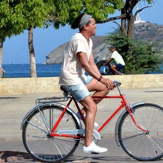 Carlos Vives está en la ciudad grabando las primeras escenas de 'La bicicleta' | Foto: Saith Daniel Ferez Boneth