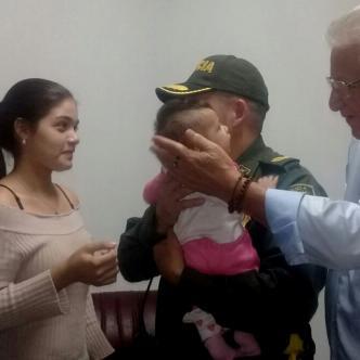 La niña fue entregada a sus padres en la Estación de Policía del barrio Soledad 2000 | César Bolívar