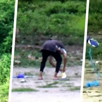 Volaban cometas para despistar a los habitantes y guardaban la droga en bolsas de mecatos   Cortesía Policía Nacional