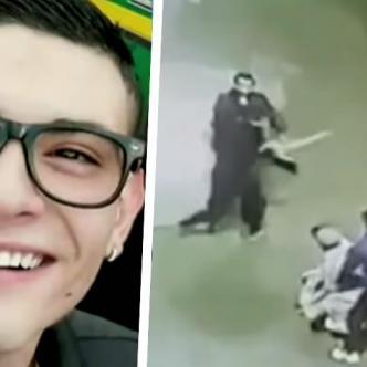 La mujer logró dar con las grabaciones en la que aparece un grupo de jóvenes golpeando con palos   ALDÍA