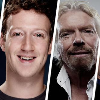 Bill Gates, Mark Zuckerberg, Richard Branson y Jack Ma son ejemplo de éxito | ALDÍA