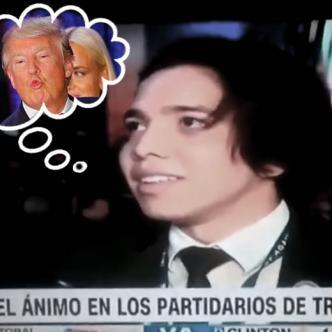 Durante la transmisión de la jornada electoral de Estados Unidos, Brandon Peña fue entrevistado por CCN en Español y muchos se indignaron por sus palabras | Captura de pantalla