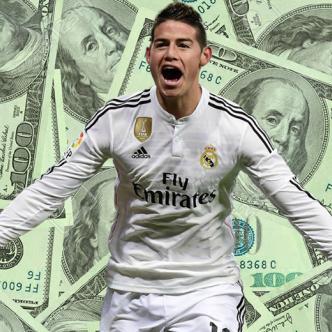 James recibe su pago en enero y junio, pero que también tendría un pago mensual de 6 mil euros, esto sin contar los pagos por objetivos que se trace el equipo. | Foto: ALDÍA.CO
