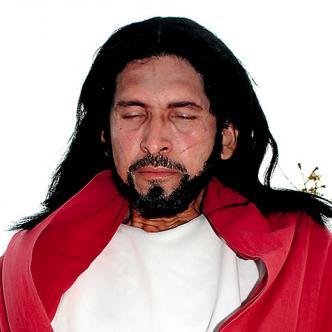 Antonio se toma muy enserio su papel de Jesús | Foto: Luís Felipe de la Hoz