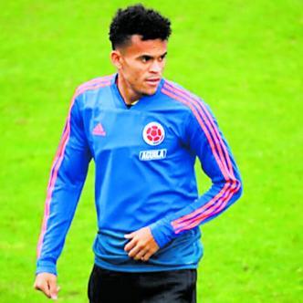 Luis Díaz durante uno de los entrenamientos de la Selección Colombia en Yokohama.