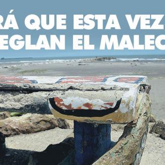Las bancas del malecón turístico dejaron de ser un atractivo con el uso, abuso y falta de mantenimiento. | Luis Felipe De la Hoz/ALDIA