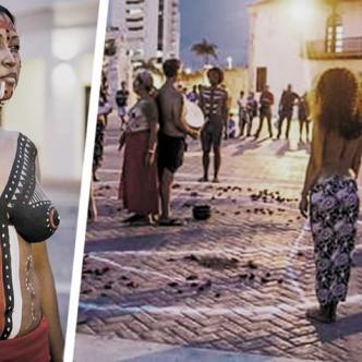 La muestra artística en la Plaza de la Aduana era una representación de los pueblos indígenas, en favor de la paz y la reconciliación | Al Día