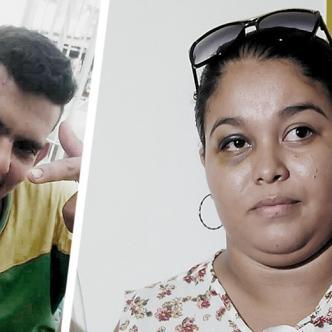Ana Pérez, de 23 años y su expareja José Guillermo Guerrero.   Foto: ALDÍA.CO