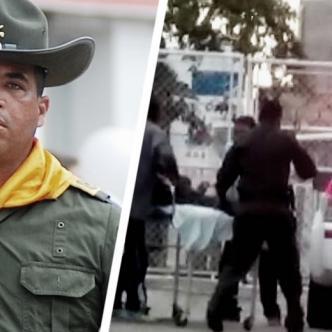 El patrullero Albert Enrique Zapata Meza, asesinado y el momento que era trasladado al hospital | Al Día