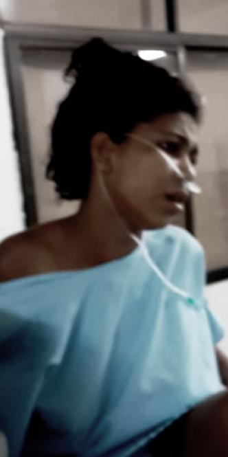 Karen Bertis Coneo, herida de dos puñaladas por no bailar.