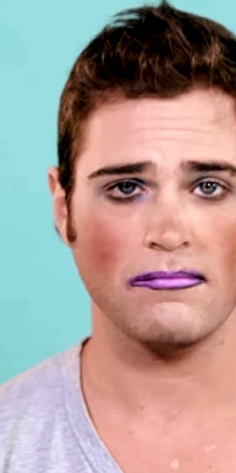Hombre maquillado