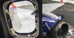 La turbina del avión explotó a pocos minutos de haber despegado. | Tomado de: Internet.