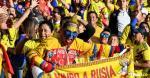 La hincada colombiana en el estadio El Campín. | AFP