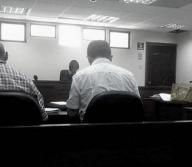 Aspecto de la diligencia judicial adelantada en el caso de abuso sexual del defensor público y de la enferme | Archivo particular
