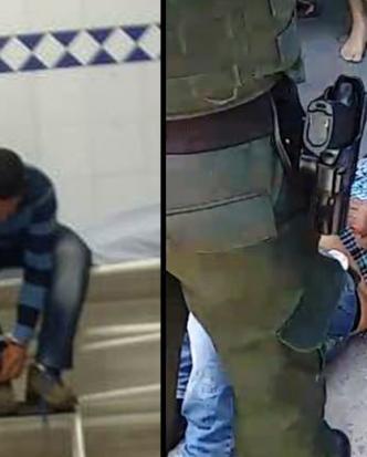 Los dos presuntos atracadores fueron capturados por las autoridades.   Archivo particular