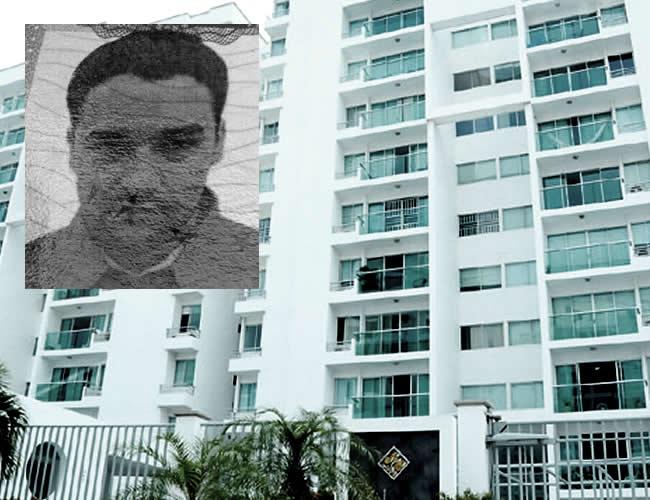 Gabriel Rogelio Núñez, de 26 años, quedó tendido sobre la vía tras lanzarse del octavo piso. | ALDIA.CO
