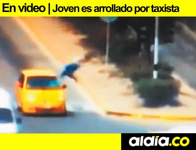 El joven cayó a unos cuatro metros del taxi.   Foto: Archivo