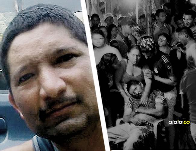 Los vecinos del barrio Timayuí, de Santa Marta, llegaron a la escena del crimen donde estaba sin vida Arturo Salas. La Sijin realizó la inspección del cuerpo. | ALDIA.CO