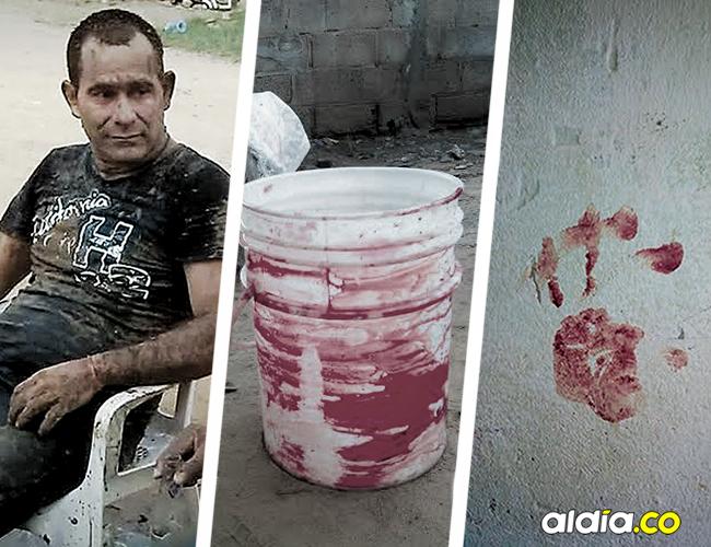 Nelson Darío Melguizo Cataño, el hombre asesinado. En la pared quedó la huella de la mano del criminal. | AL DÍA