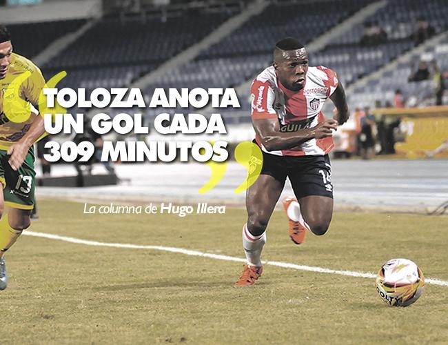 Édison Toloza anota un gol cada 309 minutos y uno cada 3,5 partidos. | Foto: ALDIA.CO