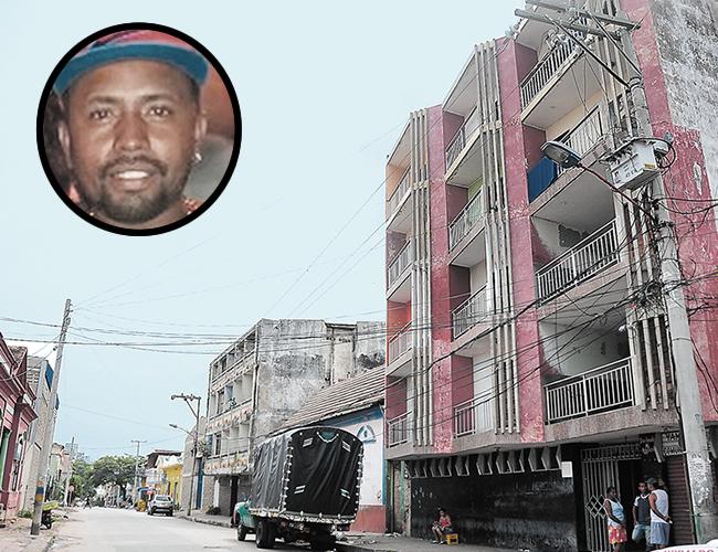 En este hotel ubicado en el barrio San Roque fue donde ocurrió el suicidio de Jaime José Dita Díaz.