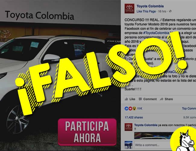 Una página de Facebook se camufló muy bien para engañar a miles de usuarios de Facebook en Colombia. El concurso es completamente falso.   ALDÍA.CO