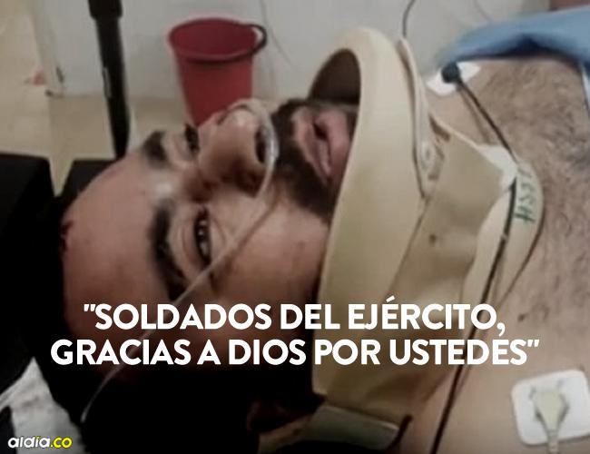 Diego Armando Vargas, el único sobreviviente del accidente del avión de Aerosucre en Puerto Carreño.   AL DÍA
