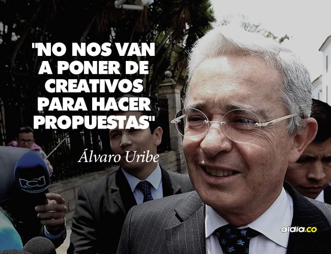 El expresidente Álvaro Uribe se reunirá este miércoles a las 11:30 a.m. con el presidente Juan Manuel Santos.  | AL DÍA