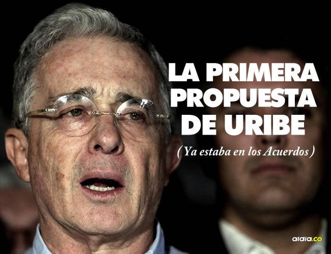 El expresidente Álvaro Uribe reapareció en el Senado para mostrar su disposición de diálogo y hacer dos propuestas iniciales | EFE
