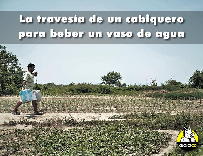 Para abastecerse de agua en Cabica hay que caminar diez minutos hasta llegar al Río Magdalena.   Foto: Archivo