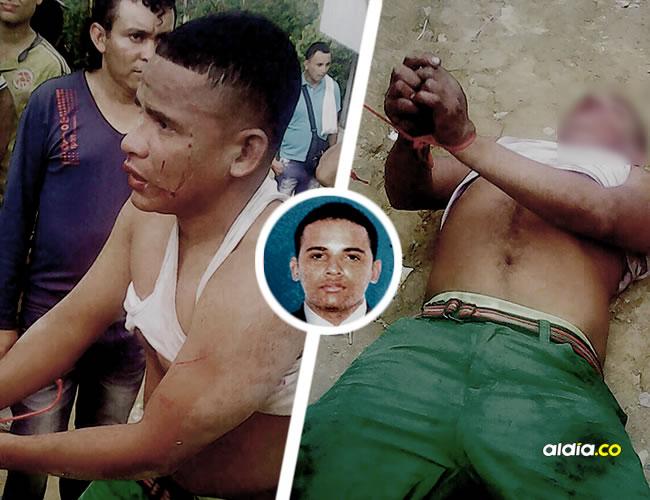 Instantes previos al asesinato de Luis Alfredo Agámez Cardeño. Una turba lo agredió, lo ató y habría entregado a grupos armados | ALDIA.CO