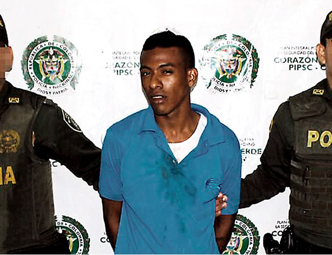 Yeison Meza Pérez, conocido como 'Yeisito' Foto: Policía Mebar